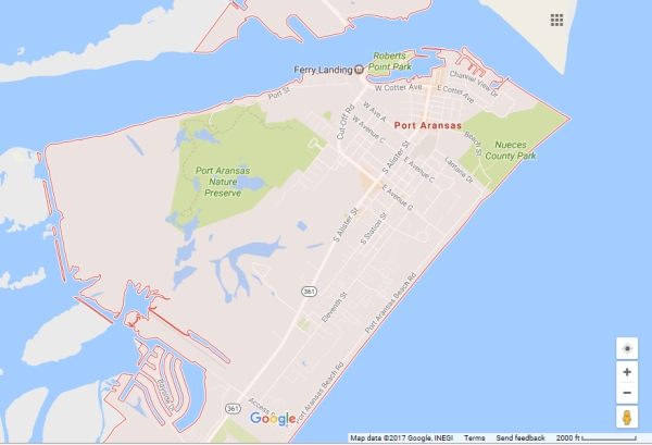 Map Of Texas Google.Aerial Photos Of Port Aransas Texas Street Map Of Port Aransas